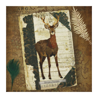 Feathers & Antlers Journal Art Canvas