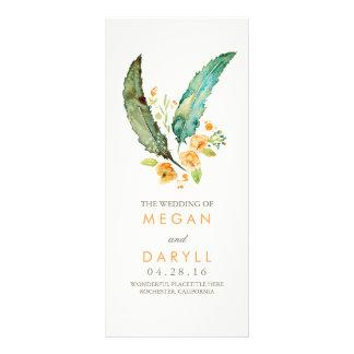Feathers Boho Teal Wedding Programs