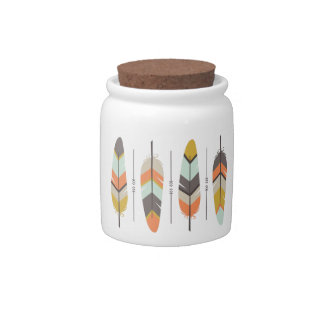 Feathers Candy Jar