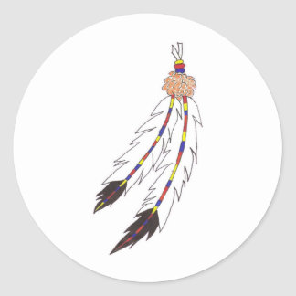 Feathers Classic Round Sticker