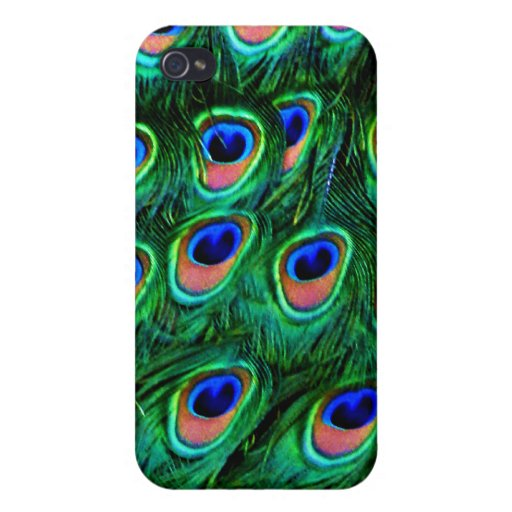 Feathers_ del pavo real iPhone 4 protector