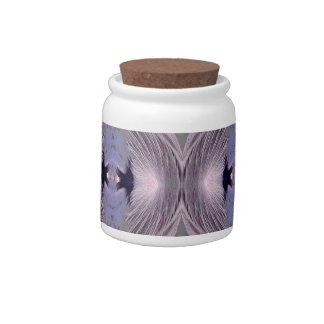 Feathers Diamond Pattern Candy Jar