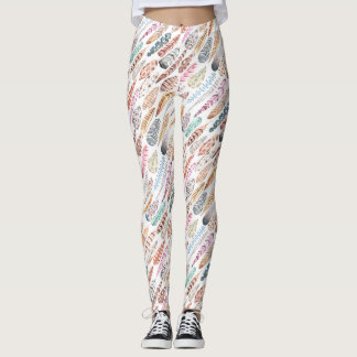 Feathers, Feathers & More Feathers Design Leggings