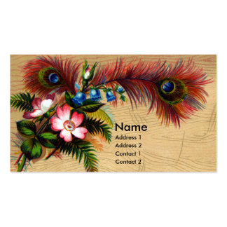 Feathers, Flowers and Ferns Double-Sided Standard Business Cards (Pack Of 100)