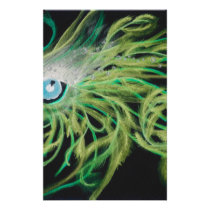 Feathers Green Stationery