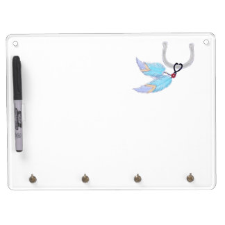 Feathers horseshoe Dry Erase Board