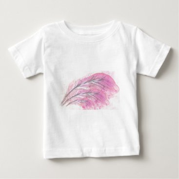 Professional Business feathers, light rose, elegant, sophisticated baby T-Shirt