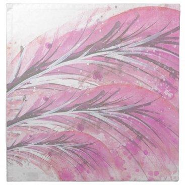 Professional Business feathers, light rose, elegant, sophisticated cloth napkin