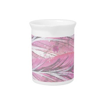 Professional Business feathers, light rose, elegant, sophisticated drink pitcher