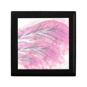 Professional Business feathers, light rose, elegant, sophisticated jewelry box