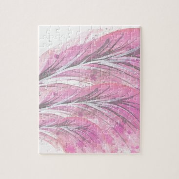 feathers, light rose, elegant, sophisticated jigsaw puzzle