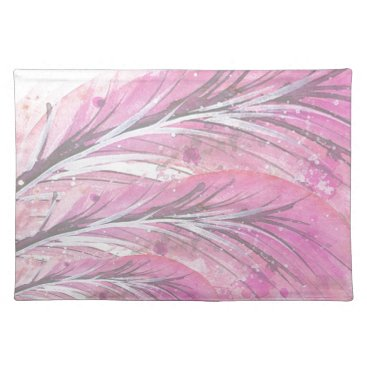 Professional Business feathers, light rose, elegant, sophisticated placemat