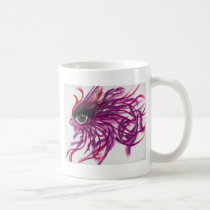Feathers Maroon Coffee Mug