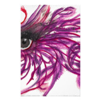 Feathers Maroon Stationery