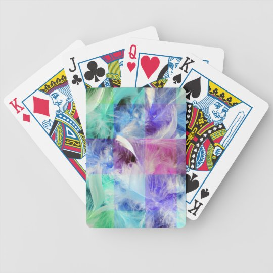Feathers Mix Bicycle Playing Cards