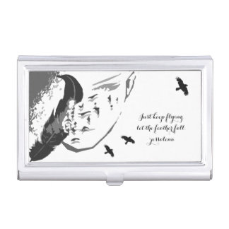 Feather's of Change Business Card Holder