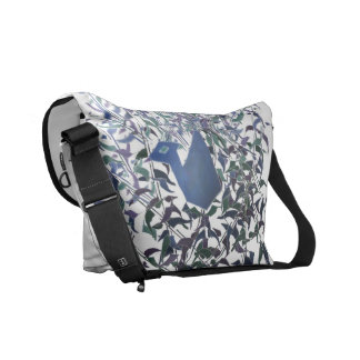 Feathers of eternal love messenger bag