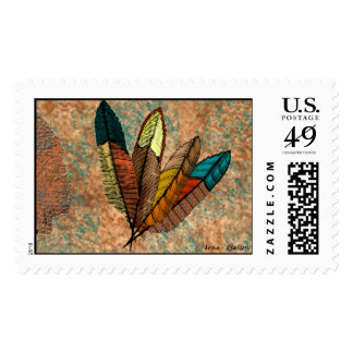 Feathers Postage Stamp