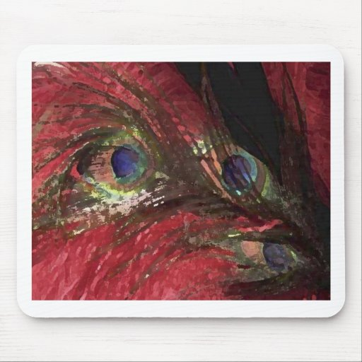 Feathers RED Mousepad