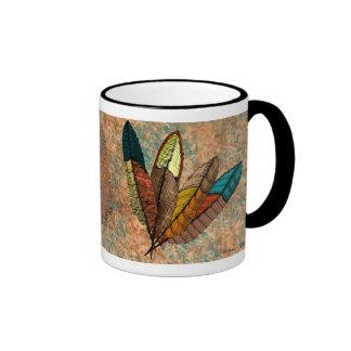 Feathers Ringer Coffee Mug