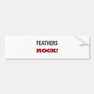 Feathers Rock Bumper Sticker