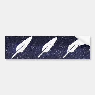 Feathers Spares Sign Car Bumper Sticker