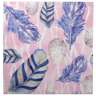 Feathers, Spotted Eggs woodland cloth napkin