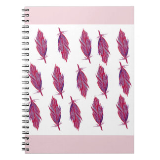 Feathers Watercolor Photo Notebook (80 Pages B&W)