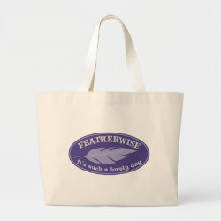 Jumbo Tote Bag with Featherwise design