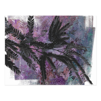 FEATHERY BRANCHES ON A TROPICAL BACKGROUND POSTCARD