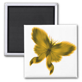 Feathery Butterfly 4 2 Inch Square Magnet