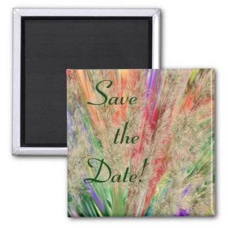 Feathery colors 2 inch square magnet