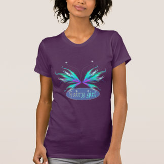 Feathery Fairy Girl Wings Tees