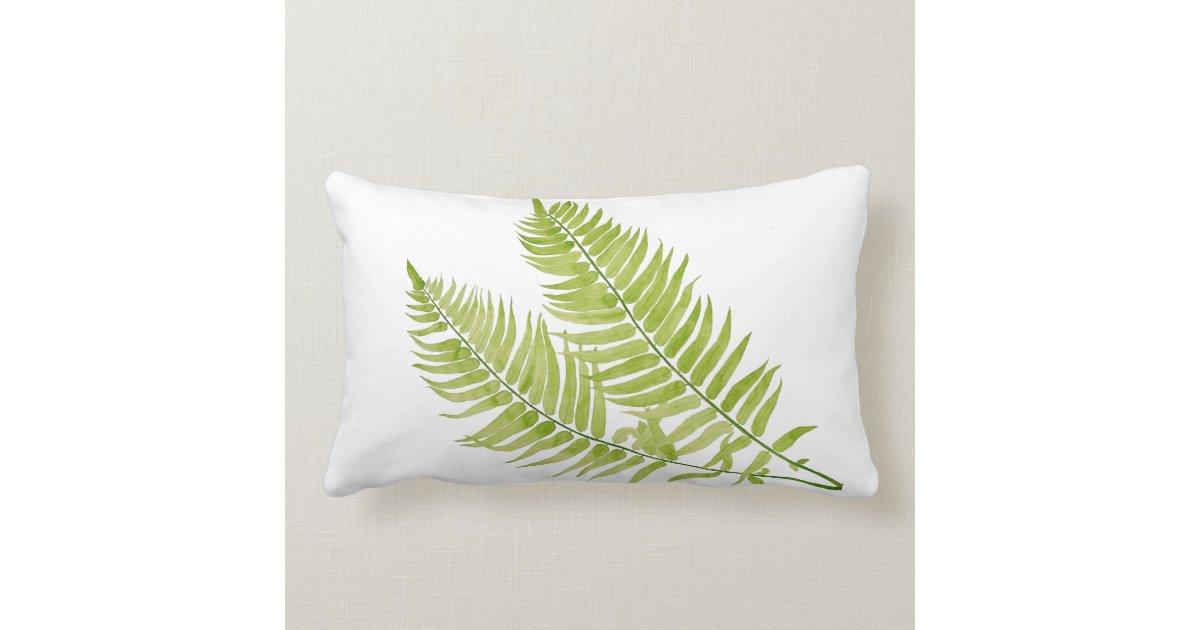 Feathery Fern On A Lumbar Pillow Zazzle Com