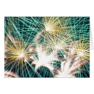 Feathery Fireworks Greeting Card