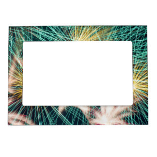 Feathery Fireworks Magnetic Photo Frame