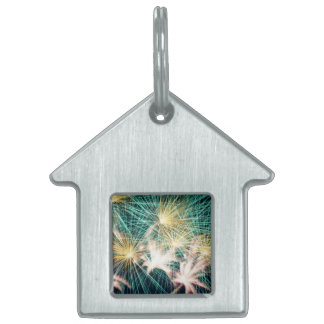 Feathery Fireworks Pet ID Tag