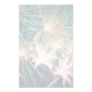 Feathery Fireworks Stationery
