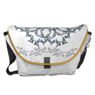 Feathery Lace Courier Bag
