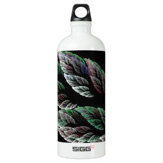 Feathery Leaves Fractal Water Bottle