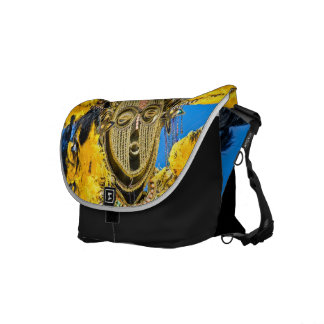 feathery mask courier bag