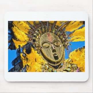 feathery mask mouse pad