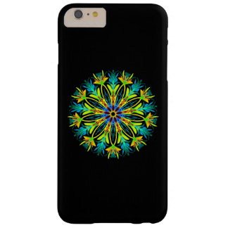Feathery neon mandala barely there iPhone 6 plus case