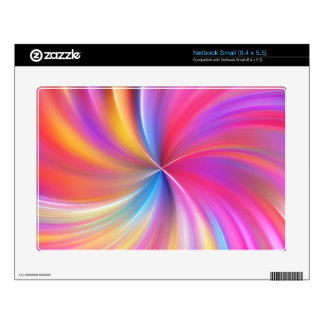 Feathery Rainbow Spiral Small Netbook Skins