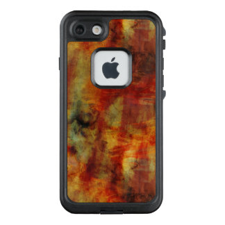 Feathery Reds and Yellows Watercolor Design LifeProof FRĒ iPhone 7 Case