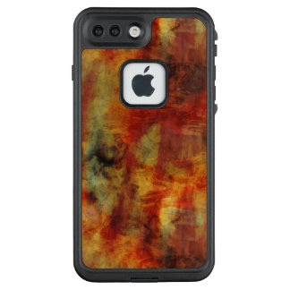 Feathery Reds and Yellows Watercolor Design LifeProof FRĒ iPhone 7 Plus Case