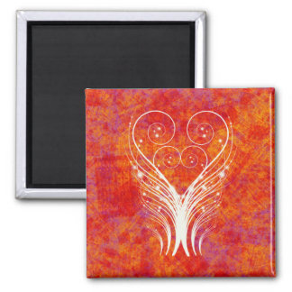FEATHERY SWIRLS 2 INCH SQUARE MAGNET