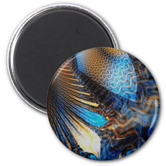 Feathery Textures 2 Inch Round Magnet