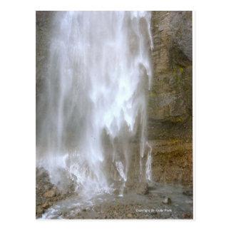 Feathery Waterfall Mt Rainier National Park Photo Post Card