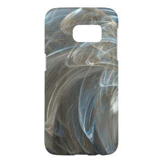 Feathery White and Light Blue Swirls Samsung Galaxy S7 Case